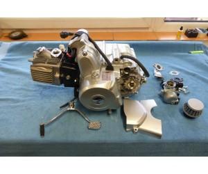 motor 124 cc (1125cc) 4T s automatem a zpateckou 7,6kw komplet karburator filtr