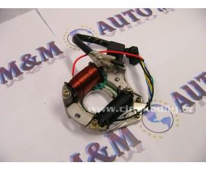 zapalování, alternátor, magneto, cívka, 2 cívky, vhodné pro motory 4T 50 - 125 - 110 atv